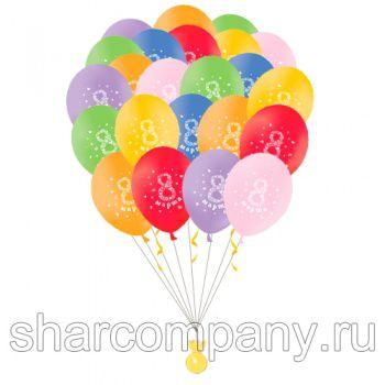 """Облако воздушных шаров """"8 марта"""""""