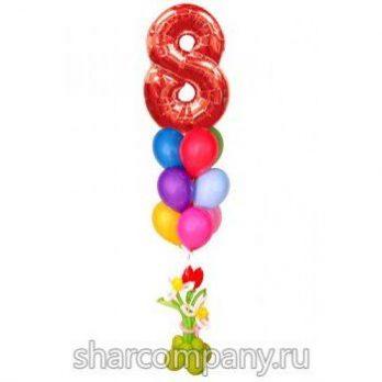 Букет из шаров «С 8 марта»