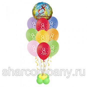 Букет из шаров «Поздравляем с 8 марта»