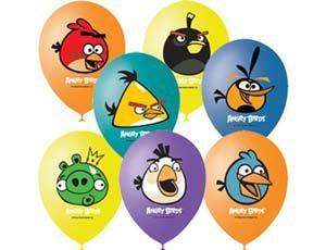 Букет из шаров «Злые птицы — Angry Birds»