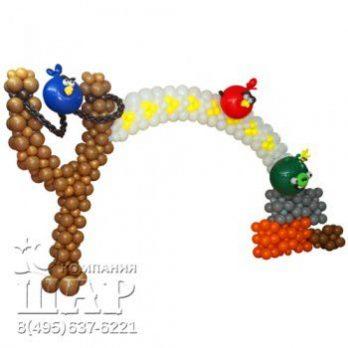 Арка из шаров «Angry Birds»