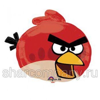 """Фольгированный шар """"Angry Birds"""" (красная птичка)"""