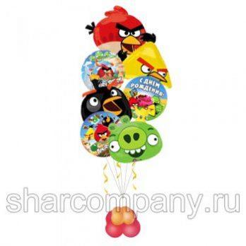 Букет из шаров «Angry Birds. Веселая команда»