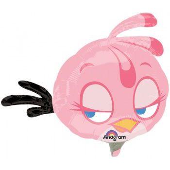 """Фольгированный шар """"Angry Birds"""" (розовая птичка)"""