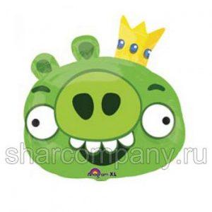 Фольгированный шар «Angry Birds» (король свиней)