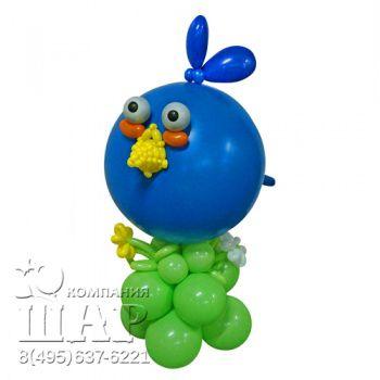 """Композиция из шаров """"Angry Birds - синяя"""""""
