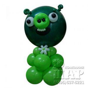 Композиция из шаров «Angry Birds — свинья»