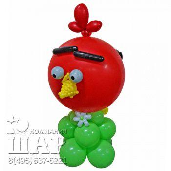 """Композиция из шаров """"Angry Birds - красная"""""""