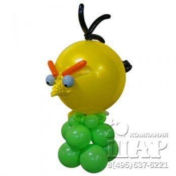 Композиция из шаров «ANGRY BIRDS — желтая»