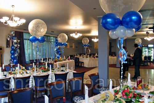 Украшение юбилея в ресторане «Времена года», Москва