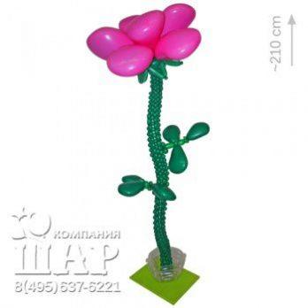 Цветок из шаров «Бардовая роза»