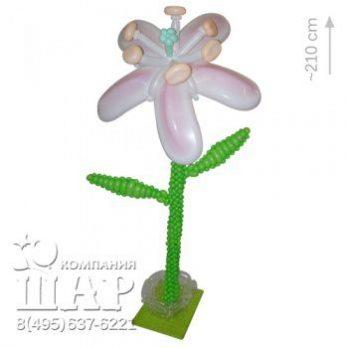 Цветок из шаров «Лилия»