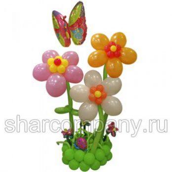 Композиция из шаров «Цветочная клумба»