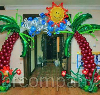 Арка из шаров «Тропическая»