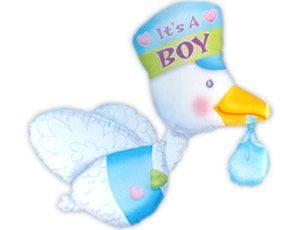 Фольгированный шар «Аист в голубом»