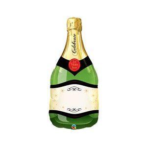 фольгированная бутылка шампанского