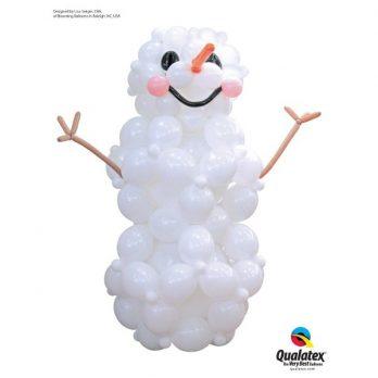 Фигура из шаров «Снеговик Квик»
