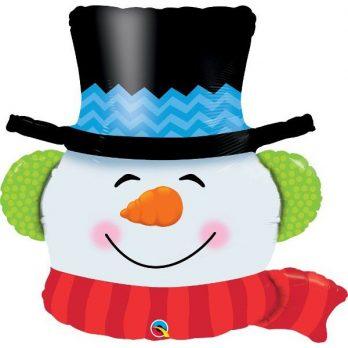 Фольгированный шар «Снеговик»