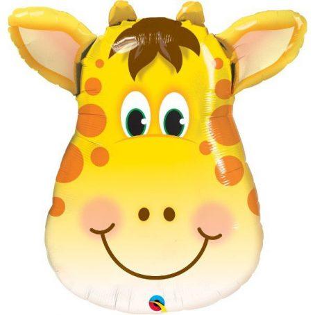 фольгированная голова жирафа
