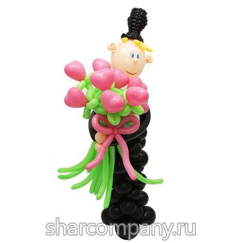 Популярные подарки из шаров на 8 марта