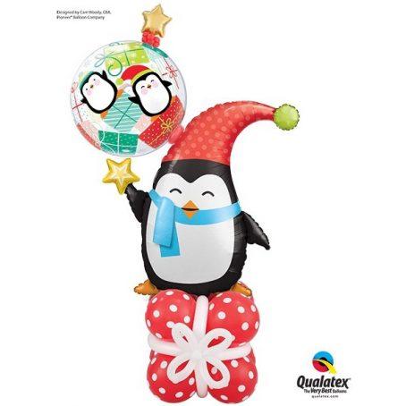 забавный пингвин из шариков