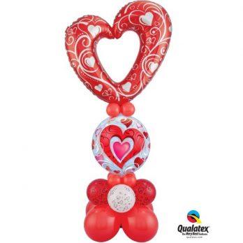Стойка из шаров «От сердца к сердцу»
