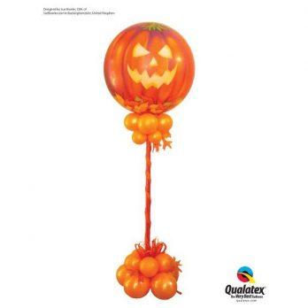 Стойка из шаров «Жуткий Хэллоуин»