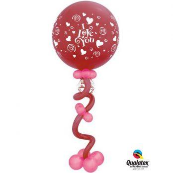 Композиция из шаров «Любовная спираль»