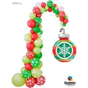 Стойка из шаров «Новогодняя»