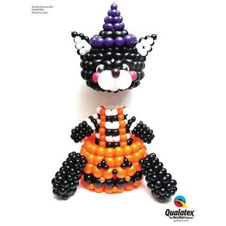 Костюм Хэллоуинской кошки из шариков
