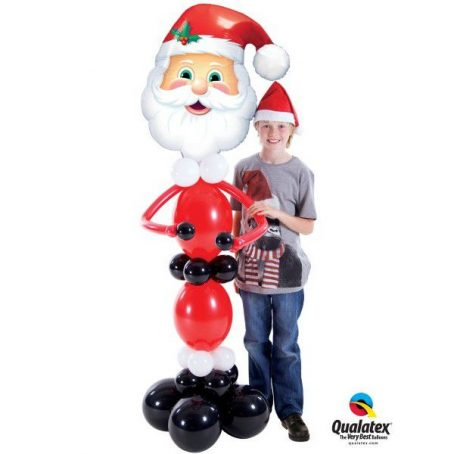 танцующий Санта из шариков