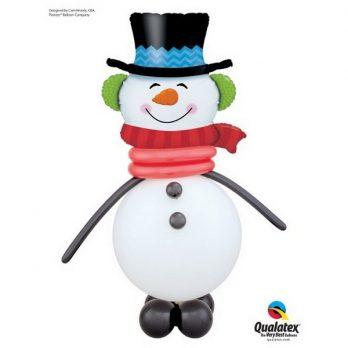 Фигура из шаров «Улыбчивый снеговик»
