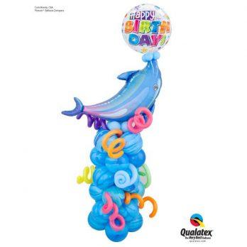 Стойка из шаров «Играющий дельфин»
