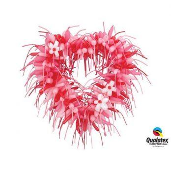 Сердце из шаров «Мохнатое»