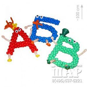Цифры и буквы из воздушных шаров