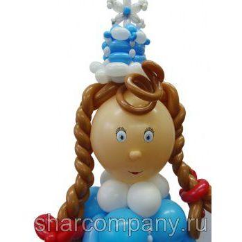 Фигура из шаров «Снегурочка»