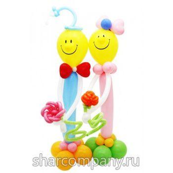 композиция Веселая компания из шариков