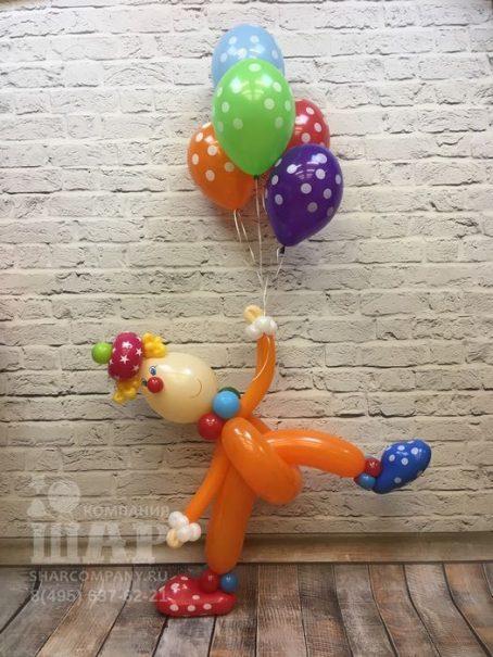 """Фигура из шаров """"Клоун Буба"""""""