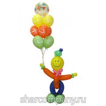 композиция из шариков спешу на праздник