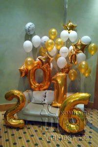 Фотозона с воздушными шарами
