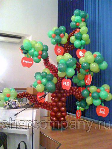 дерево из шариков