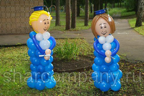 Популярные фигуры из воздушных шаров для школьных праздников