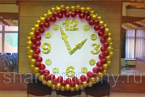 часы из воздушных шаров