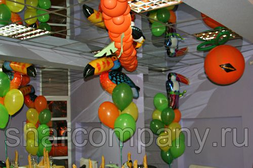 оформление шарами праздника