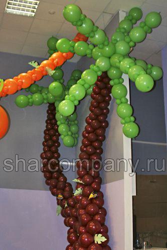 пальмы из шаров