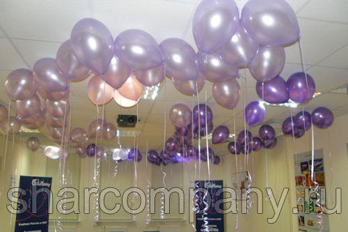 гелиевые шары под потолок