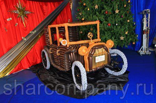 автомобиль из шариков на заказ