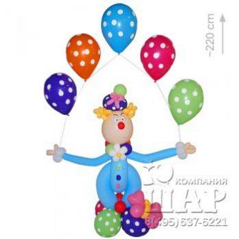Фигура из шаров «Клоун Фотя»