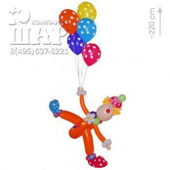 Фигура из шаров «Клоун Буба»
