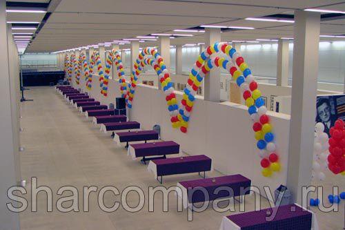 Украшение дня строителя воздушными шарами